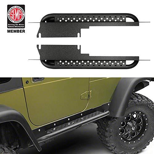 Hooke Road Rocker Slider Guards Running Board Side Steps Compatible with Jeep Wrangler TJ 1997-2006 (Exclude TJ Unlimited 04-06 LJ)