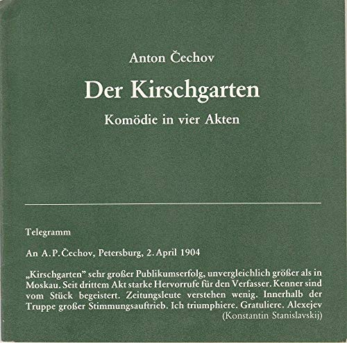 Programmheft Anton Cechov DER KIRSCHGARTEN Premiere 16 Januar 1980