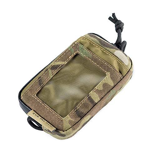 OneTigris Front Pocket Mini Wallet with Waterproof Zippers CASSETTE EDC Pouch 500D Nylon Multicam