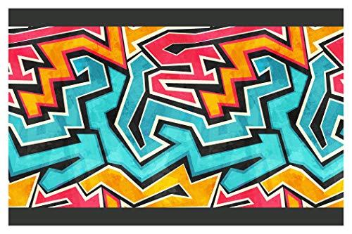 "I-love-Wandtattoo b-10180 Kinderzimmer Bordüre ""Graffiti"" Junge Mädchen Wanddeko Wandaufkleber Wandsticker Wandtattoo"
