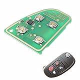 C-FUNN Flip Tarjeta De Circuito De Llave Remota 433 MHz 4 Botón para Jaguar X Tipo Xj XJR