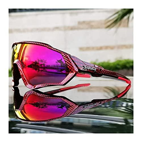 Occhiali da sole 6 lenti fotocromatiche polarizzate ciclismo occhiali 2021 uomini donne bici occhiali sport MTB bicicletta corsa equitazione occhiali occhiali (colore: C1) (C8)