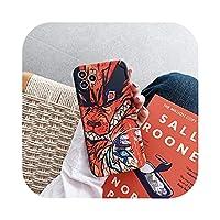 日本アニメ倉山悪魔のスレイヤーフェアリーテール電話ケースiPhone 12 11 Pro X XS MAX XR 7 8 Plus SE2シリコンソフトカバー -2-For iPhone 7Plus