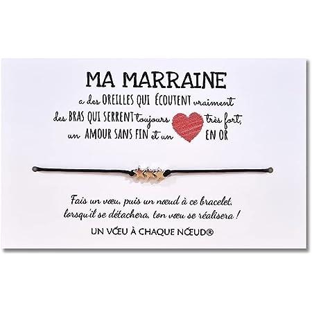 Fabriqu/é en France Bracelet Porte-Bonheur UVACN Carte de Voeux Cousin Id/ée Cadeau Original