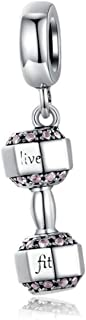 Football Bead Charms with Black and White Enamel 925 Sterling Silver Soccer Ball Bead for Pandora Bracelet Charms