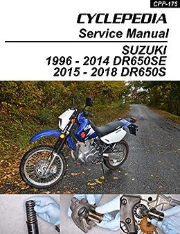 Amazon Com 1996 2012 Suzuki Dr650se Service Manual Ebook Cyclepedia Press Llc Kindle Store