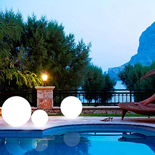 Mobestech luce a sfera a led luce a led impermeabile per piscina con telecomando luce notturna a led per feste in giardino (1 pz 12 cm)