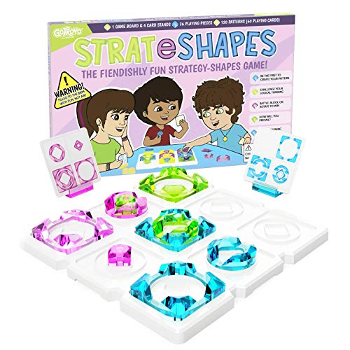 STRATeSHAPES Logic Board Game  Family Fun Game of Logic and Chance  Perfect for Game Night  24 Players Aged 8  STEM Learning Games  Make Your Patterns First to Win