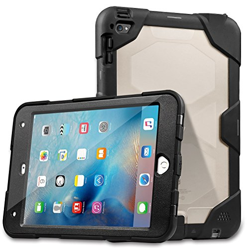 Waterproof Case for iPad Mini 4, meritcase IP68 Shockproof, Dirt-Proof, Snow-Proof, Waterproof Case for iPad Mini 4 (7.9inches, Black)