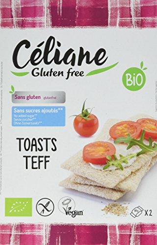 Le recettes de céliane Toasts Teff 200 g - Lot de 4
