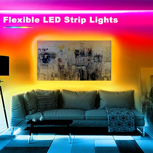 Phopollo Bluetooth Led Strip Lights, 32.8ft Flexible Led Lights with Phone Control and 24 Keys Remote for Bedroom, House and Holiday Decoration 3