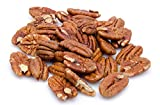 RAW, SHELLED PECANS : Fresh, raw pecans in resealable bag. Nutrition and best quality comes for you in the most natural way. NUTRITIOUS HEALTHY SNACKS: Pecans include vitamins A, B, and E, folic acid, calcium, magnesium, phosphorus, potassium, and zi...