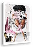 African American Wall Art Fashion Black Woman Queen Painting Home Decor For Bedroom Living Room Black Wall Art Woman Gifts Framed Ready To Hang12x16inch