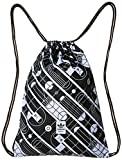 adidas Bolsa de Deporte Uni Gymsack Track, Blanco/Negro, 37 x 47 x 5 cm, 16 l
