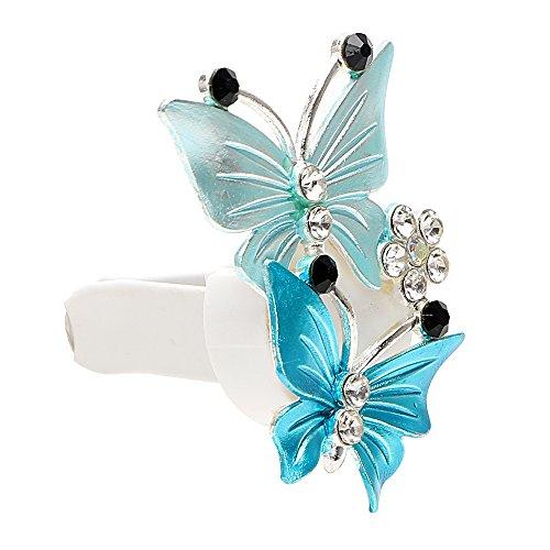 NOPNOG Désodorisant pour voiture Parfum Papillon Clip Décoration de voiture Parfum Ornement Bleu