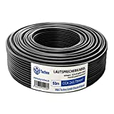 50m Cable de altavoz 2x0,75mm² CCA ronda negro marcas...