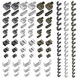 YPLonon Reißverschluss Reparatur Set Metall 123 Stücke Reißverschluss Stopper DREI Farben Reißverschlüsse Ersatz Zubehör für Einfache Reißverschlussreparatur
