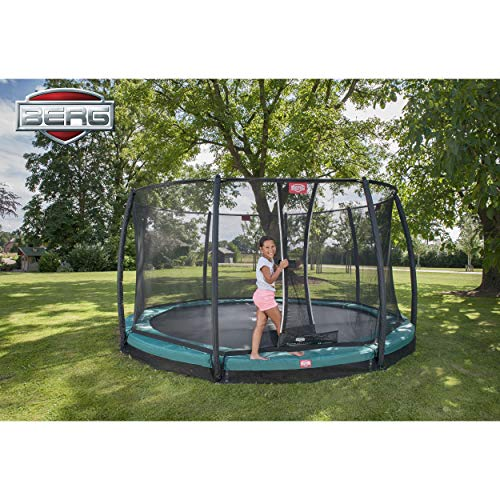 BERG Trampoline Inground Champion Oval 17ft with Safety Enclosure Net Deluxe | Trampoline for Kids, High Performance & Safety Features, Lifetime Warrenty, Jump Higher with TwinSpring and Airflow