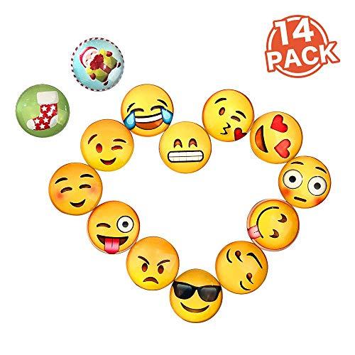 BelleJoomu 14 Stücke Emoji Magnete Für Magnettafel Kühlschrankmagnete Starke Magnete Kinder Magnete Niedliches Piktogramm Durchmesser 30mm