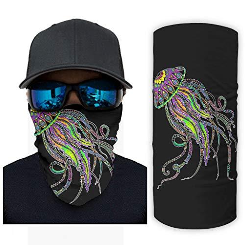 Zhcon Jellyfish Printing Hoofdbanden Bandana Mode Magische Brede Naadloze Wicking Buis voor Hardlopen Wandelen Motorfietsen