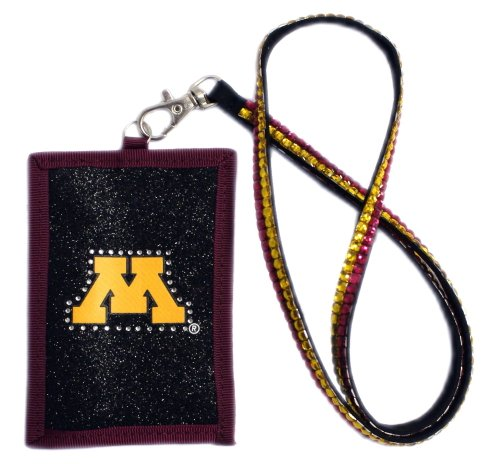 NCAA Minnesota Gophers Beaded Lanyard with Nylon Wallet