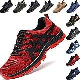 Zapatos de Seguridad para Hombre Mujer Transpirable Ligeras con Puntera de Acero Trabajo Calzado de Zapatos de Industrial y Deportiva Unisex