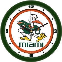 SunTime NCAA Miami Hurricanes Traditional Wall Clock