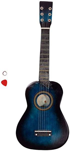 25 Acoustic Guitar Pick String Blue Children Wood 6 Strings Guitar Learning Music Stringed Instrument XuanL