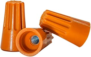 100 PCS Orange Wire Connector, P3 Type Easy Twist-On Ribbed Cap - UL and CSA Listed