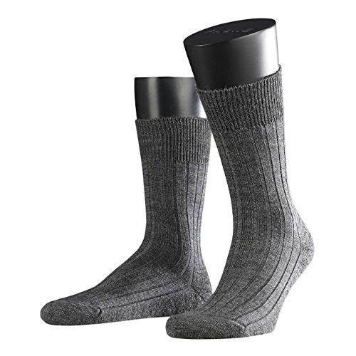 FALKE Herren Socken Teppich im Schuh 3er Pack, Größe:45/46;Farbe:dark grey melange