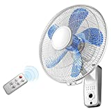 Ventilador Refrigerado por Aire Montado En La Pared De 18 Pulgadas, Ventilador Eléctrico Ajustable De Tres Velocidades con Temporización De 8 Horas para El Hogar, Ventilador Eléctrico Silencioso OSC