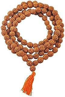 Sethi Traders Brown Wooden Rudraksh Mala 108+1 Beads 8mm