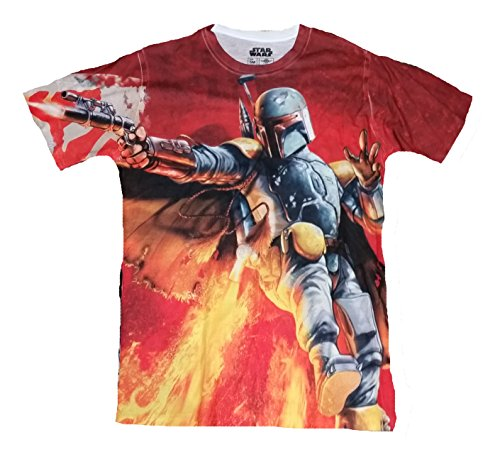 Star Wars Boba Fett Bounty Hunter All Over con Licencia Graphic T-Shirt