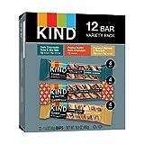 KIND Nut Bars Favorites Variety Pack, 1.4 Ounce, 12 Count, Dark Chocolate Nuts and Sea Salt, Peanut...