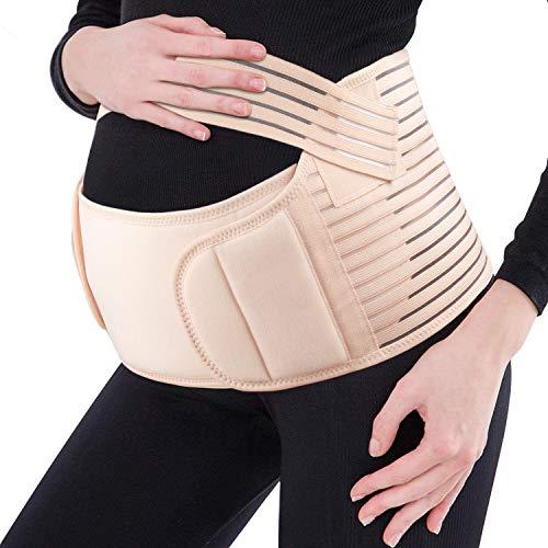 FT-SHOP Faja de Maternidad Baja de la Espalda y el estómago Suave sin Costuras Cinturón de Maternidad Ajustable