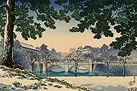土屋光逸日本美術浮世絵ダブルブリッジジグソーパズル大人の木のおもちゃ500ピース