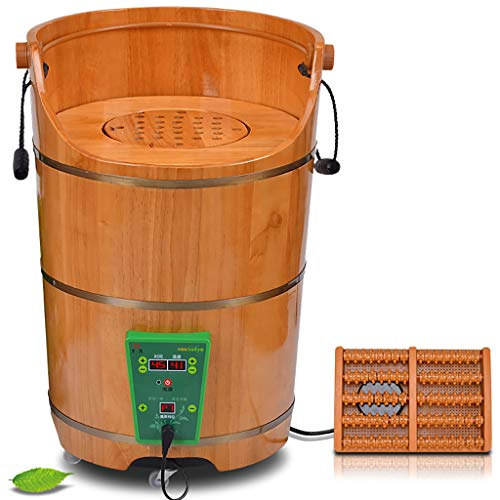 Buy Foot Bath Barrel Wooden Foot Basin Fumigation Massage Durable Heightening Foot Tub Nature Hydro ...