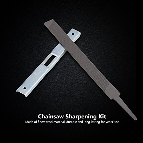 Haofy Chain Saw Sharpener Depth Gauge with Flat File, Effective Chain Saw Sharpening Tool Kit for General Chainsaw