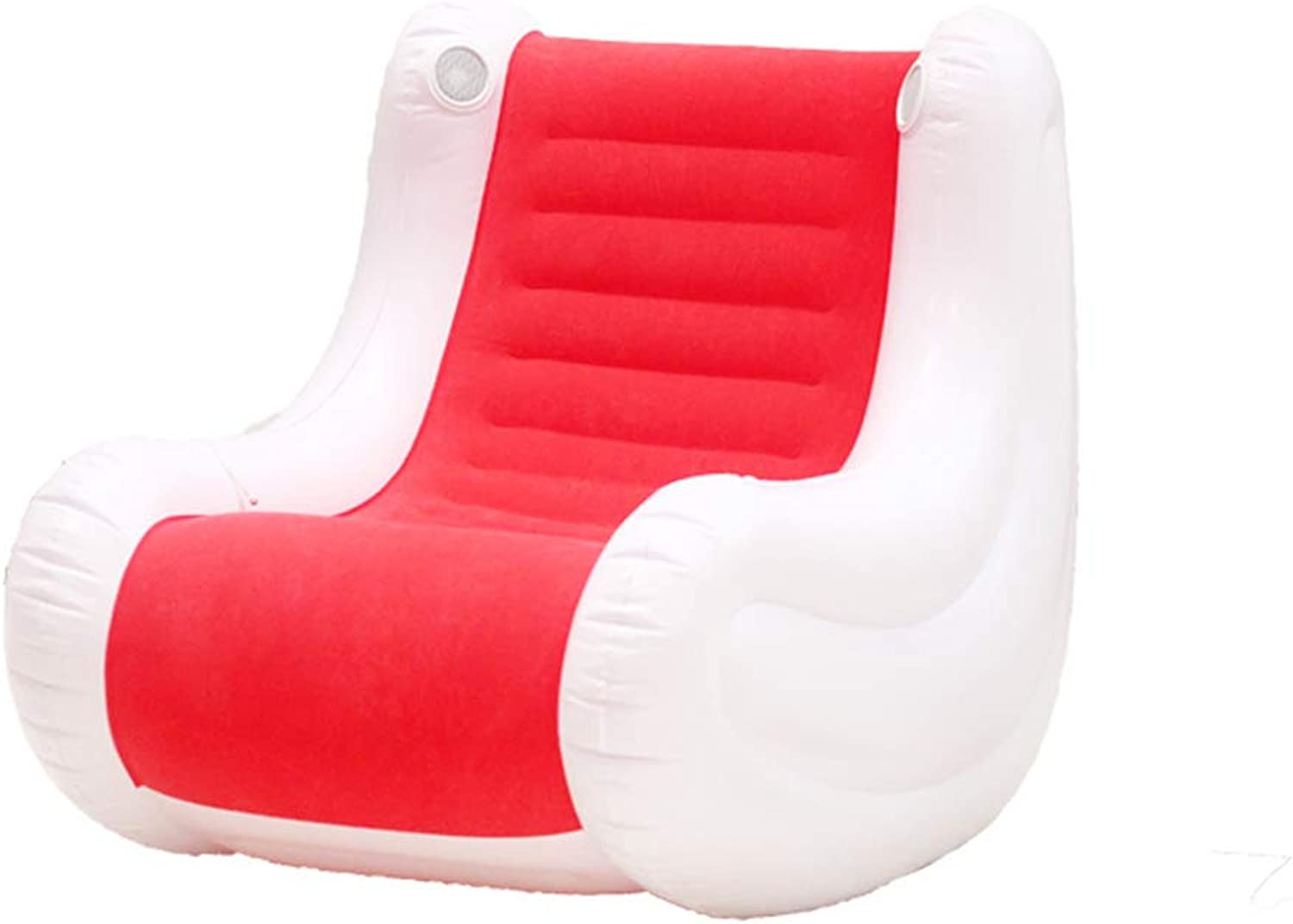 Lazy Inflatable Sofa Single Sofa Bedroom Tatami Simple Fluttering Window Chair Bean Bag Folding Sofa Transparent Inflatable Sofa Portable Sofa Chair Bed Casual air Cushion Sofa,Red