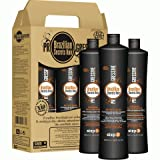 KIT LISSAGE BRESILIEN - BRAZILIAN SECRETS HAIR - 3 X 500 ML - à la keratine made in...