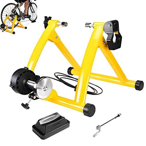 GSTARKL Entrenamiento Bicicleta Rodillo, Bicicleta Fija Soporte estacionario para Montar en el...