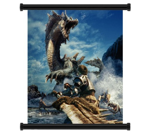 Monster Hunter Tri Game Fabric Wall Scroll Poster (16x16) Inches