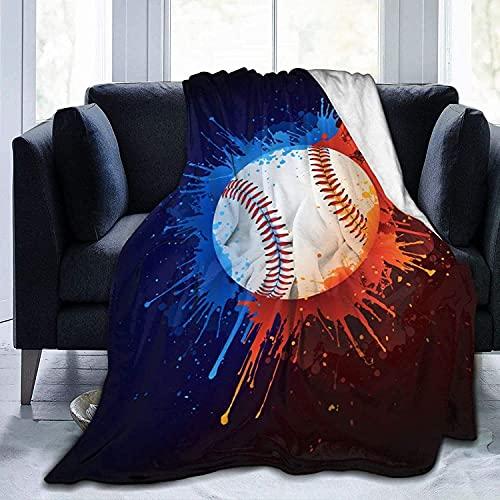 Manta de béisbol de franela de forro polar para bebés, niños, hombres, mujeres, mantas suaves y cálidas, tamaño Queen y mantas para sofá, cama, sofá de viaje