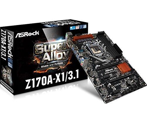 ASRock Motherboard ATX DDR4 LGA 1151 Z170A-X1 3.1