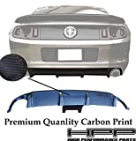 High Performance Part Rear Bumper Diffuser Lip Spoiler-2 Vent (Carbon Print) Compatible for 13-14 Ford Mustang Shelby GT500