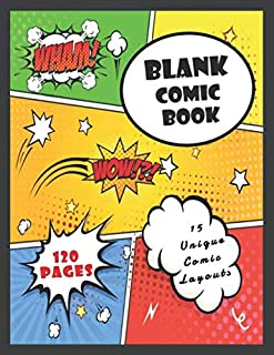 Blank Comic Book: Draw Your Own Comics - A Large 120 Pages  8.5