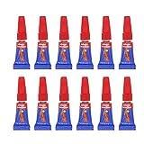 12 Super glue adhesivos pegamento instantáneos monodosis (12 x 1g Monodosis)