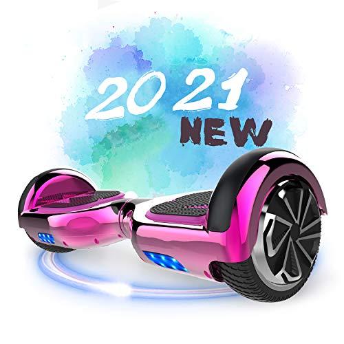 SOUTHERN-WOLF Hoverboard, Patinete Eléctrico Hoverboard, Hover 6.5 Pulgadas Board Leds, Potente batería...