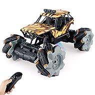 Baztoy Monster Truck Kids Remote Control Car Toys Multi Terrain RC Offroad Stunt Car 4WD Crawler Bug...