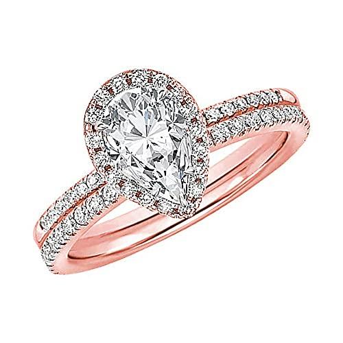 1 pieza de anillo de diamante de gota de agua, ideal para gota de agua, anillo de gota de agua, anillos colgantes para graduación, día de San Valentín, Navidad